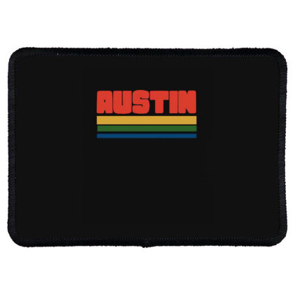 Vintage Style Austin Rectangle Patch Designed By Blackstone
