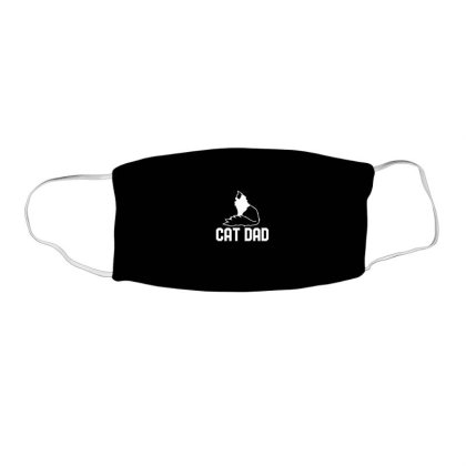Cat Dad Face Mask Rectangle Designed By Blackstone