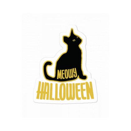 Meowy Halloween Sticker Designed By Blackstone