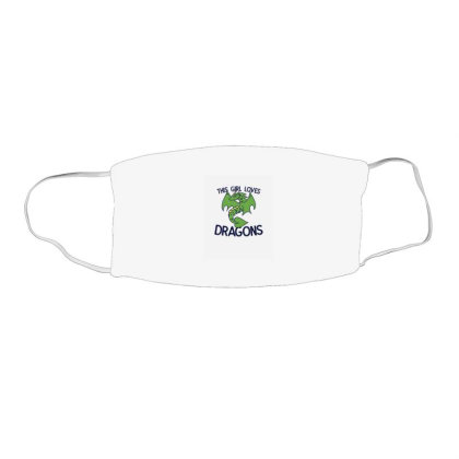 This Girl Loves Dragons Face Mask Rectangle Designed By Blackstone