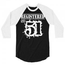 registered no 51 3/4 Sleeve Shirt   Artistshot