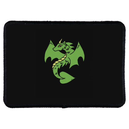Green Dragon Rectangle Patch Designed By Blackstone