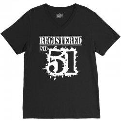 registered no 51 V-Neck Tee   Artistshot