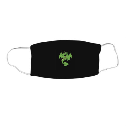 Green Dragon Face Mask Rectangle Designed By Blackstone