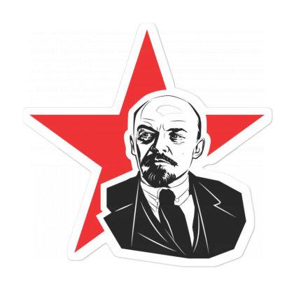 Lenin Russia, Star Sticker Designed By Estore