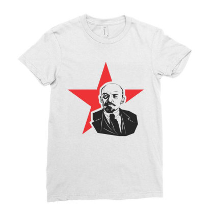 Lenin Russia, Star Ladies Fitted T-shirt Designed By Estore