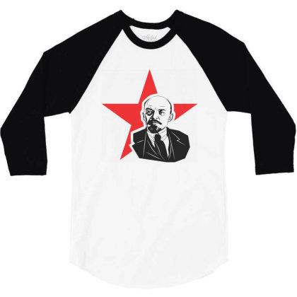 Lenin Russia, Star 3/4 Sleeve Shirt Designed By Estore