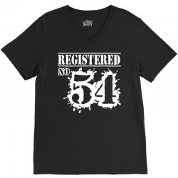 registered no 54 V-Neck Tee | Artistshot