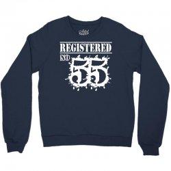 registered no 55 Crewneck Sweatshirt | Artistshot