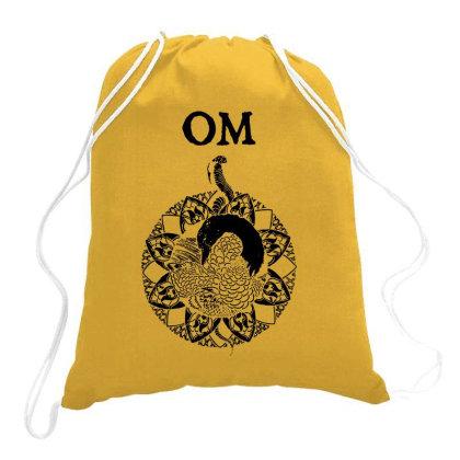 Om Band Drawstring Bags Designed By Dizzytrina
