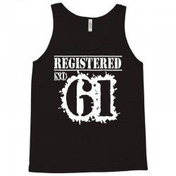 registered no 61 Tank Top | Artistshot