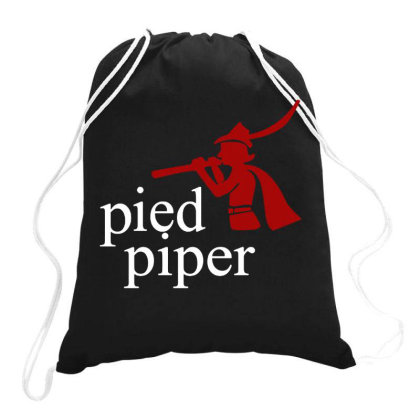 Pied Piper Drawstring Bags Designed By Swan Tees