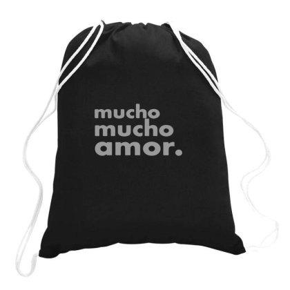 Mucho Mucho Amor Drawstring Bags Designed By Yusrizal_