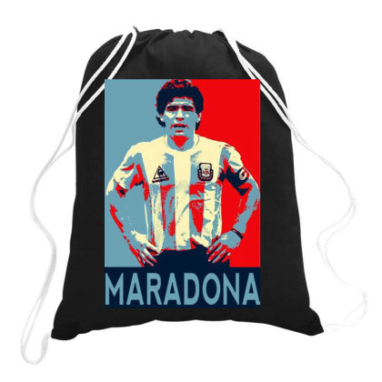 Maradona Argentina Cult Football Legend Drawstring Bags Designed By Romeo And Juliet