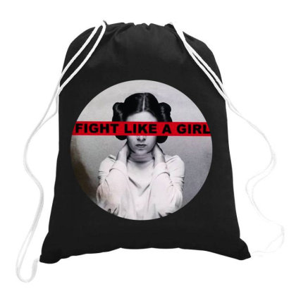 Leia Fight Like A Girl Drawstring Bags Designed By Romeo And Juliet
