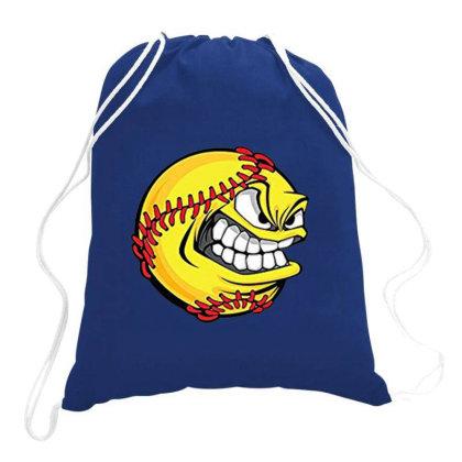 People's Republic Of Burlington Softball Drawstring Bags Designed By Dizzytrina