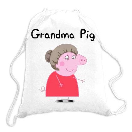 Peppa Pig Grandma Drawstring Bags Designed By Swan Tees