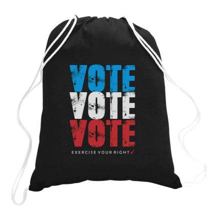 Vote Vote Vote Drawstring Bags Designed By Awangsastrawan
