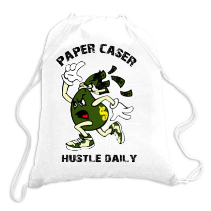 Paper Chaser Drawstring Bags Designed By Swan Tees