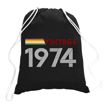 Retro Born In 1974 Drawstring Bags Designed By Romeo And Juliet