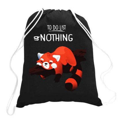 Panda Nothing Drawstring Bags Designed By Swan Tees