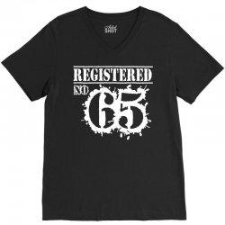 registered no 65 V-Neck Tee   Artistshot