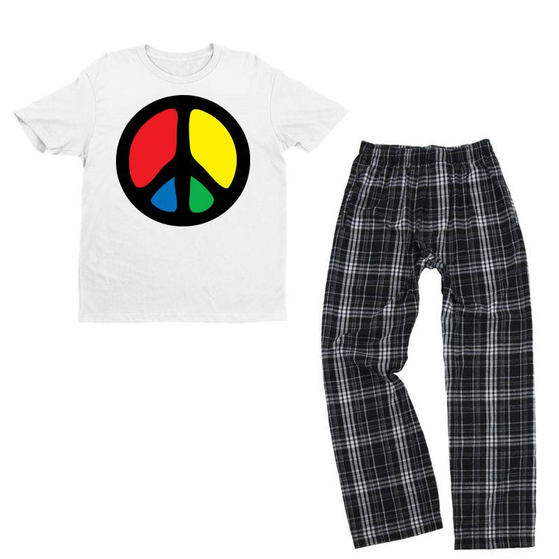 Peace Logo Youth T-shirt Pajama Set   Artistshot