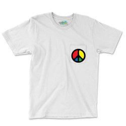Peace Logo Pocket T-shirt Designed By Danz Blackbirdz