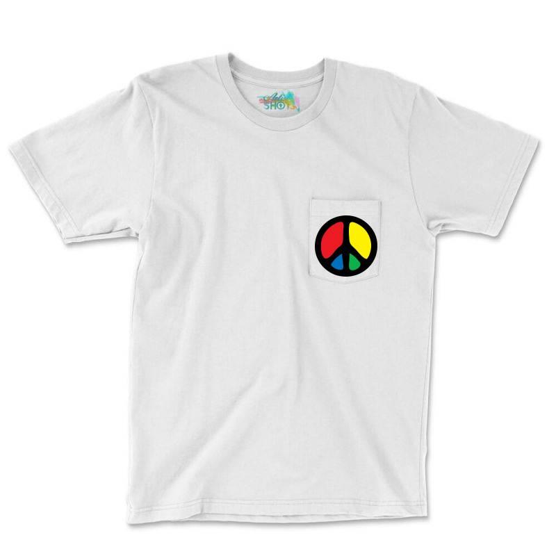Peace Logo Pocket T-shirt | Artistshot