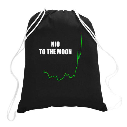 Nio To The Moon Classic Drawstring Bags Designed By Yusrizal_