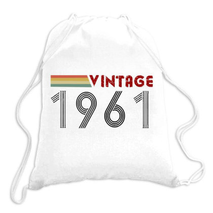 Retro Born In 1961 Drawstring Bags Designed By Romeo And Juliet
