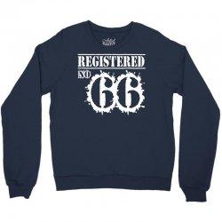 registered no 66 Crewneck Sweatshirt   Artistshot