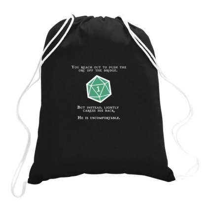 Natural 1   Orc (white) Essential Drawstring Bags Designed By Yusrizal_
