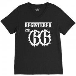registered no 66 V-Neck Tee   Artistshot