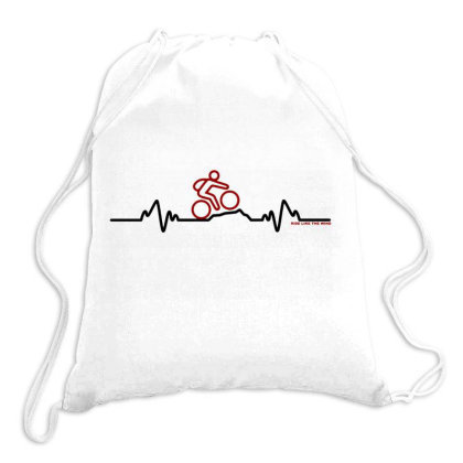 Pulse Mountain Bike Funny Drawstring Bags Designed By Romeo And Juliet