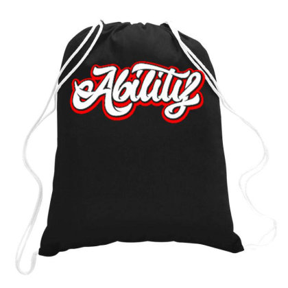 Ability Drawstring Bags Designed By Dhiart