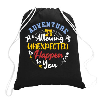 Adventure And Journey4 Drawstring Bags Designed By Dhiart