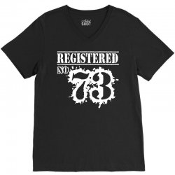 registered no 73 V-Neck Tee | Artistshot