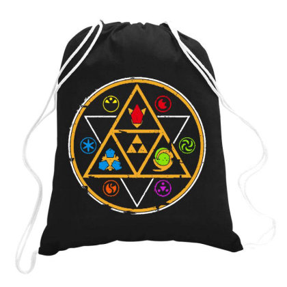 Symbols Of Time Drawstring Bags Designed By Romeo And Juliet