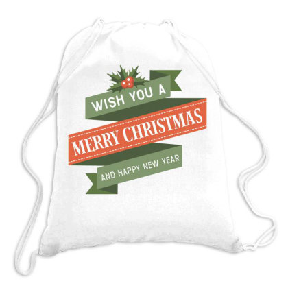 Merry Christmas, Happy New Year, Have A Holly Jolly Drawstring Bags Designed By Estore