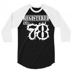 registered no 78 3/4 Sleeve Shirt   Artistshot