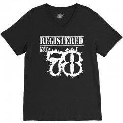 registered no 78 V-Neck Tee   Artistshot