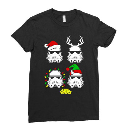 Santa Xmas Ladies Fitted T-shirt Designed By Romeo And Juliet