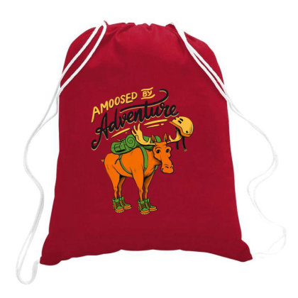 Amoosed By Adventure Drawstring Bags Designed By Jekfor