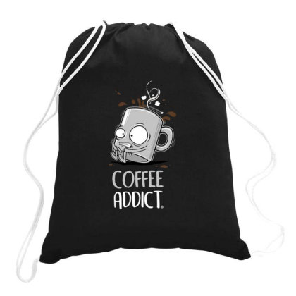 Coffee Addict Drawstring Bags Designed By Jekfor