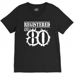 registered no 80 V-Neck Tee | Artistshot