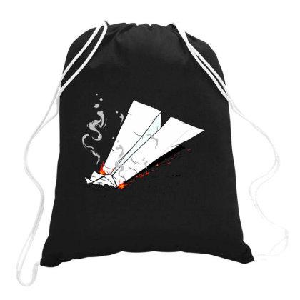 Crash Landing Drawstring Bags Designed By Jekfor