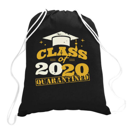 Quarantine Class Of 2020 Stamp Drawstring Bags Designed By Yusrizal_