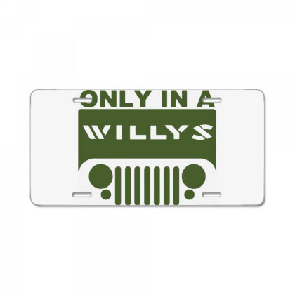Jeep Willys License Plate Designed By Swan Tees