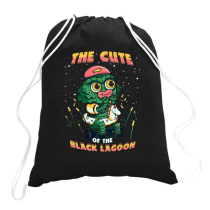 Cute Of The Black Lagoon Drawstring Bags Designed By Jekfor